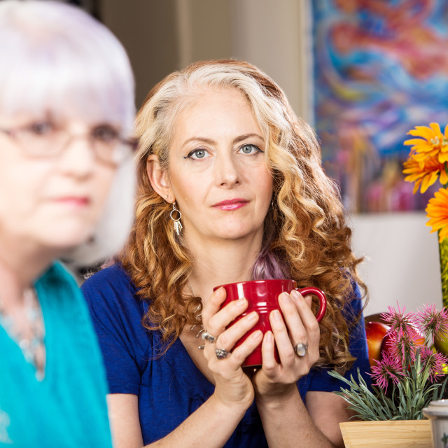 """""""Two Friends in Kitchen"""" stock image"""