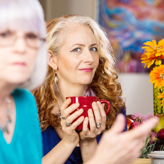 """""""Skeptical Woman"""" stock image"""