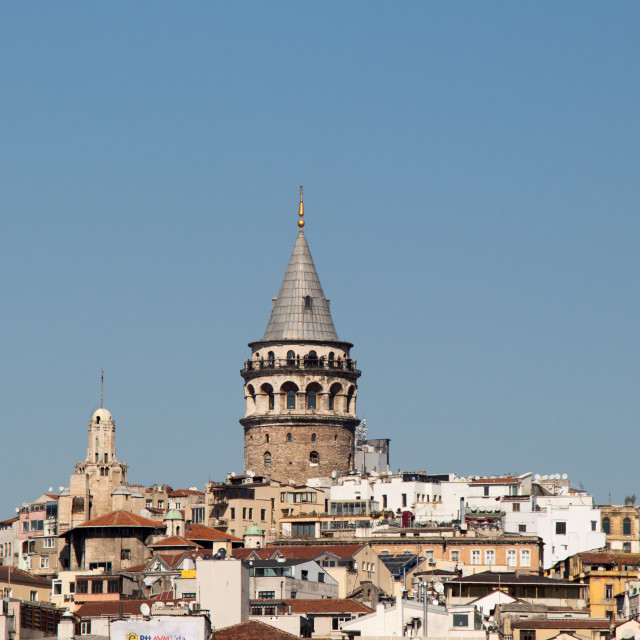 """""""Galata Tower from Byzantium times in Istanbul"""" stock image"""