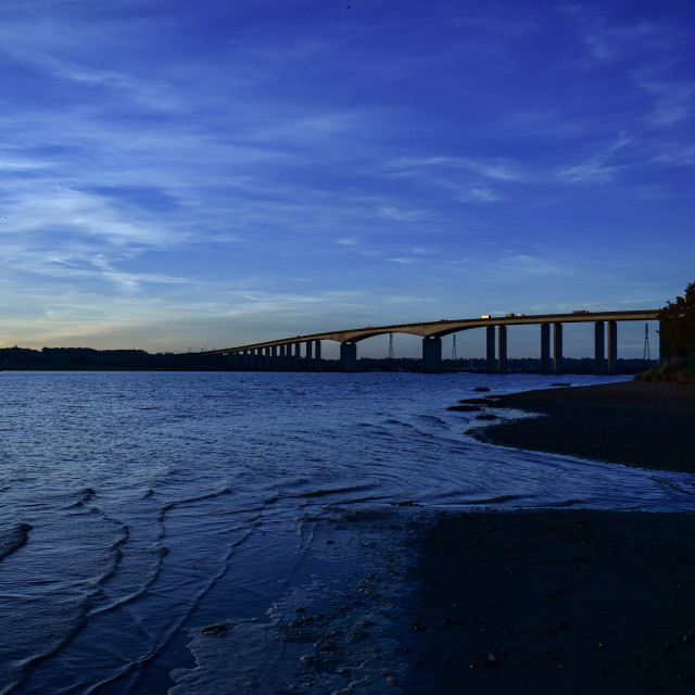 """River Orwell and Orwell bridge"" stock image"