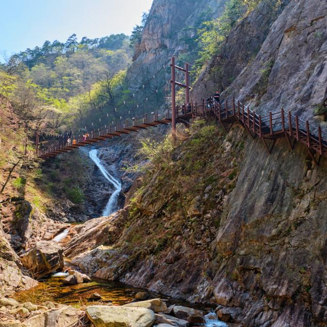 """Biryong Falls watrefall"" stock image"