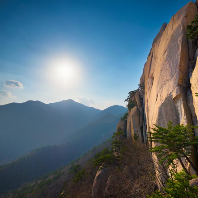 """Ulsanbawi rock in Seoraksan National Park, South Korea"" stock image"