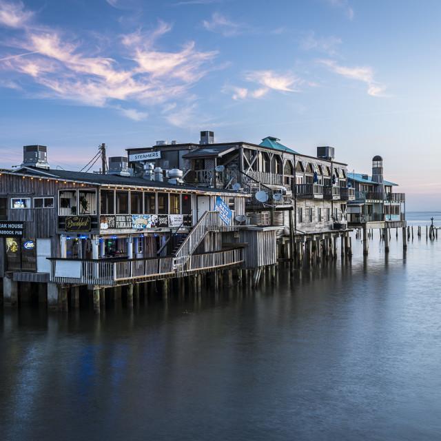 """""""Waterfront Sunrise..."""" stock image"""