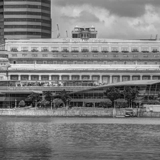 """The Fullerton Hotel Singapore"" stock image"