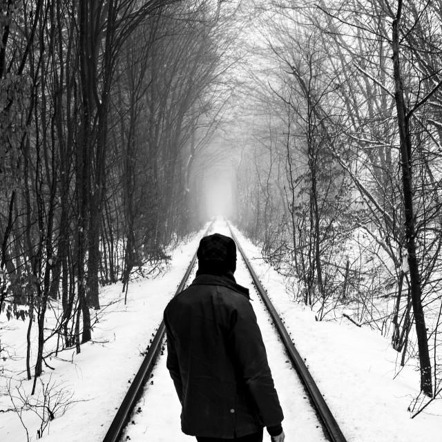 """Train tracks in Ukraine"" stock image"