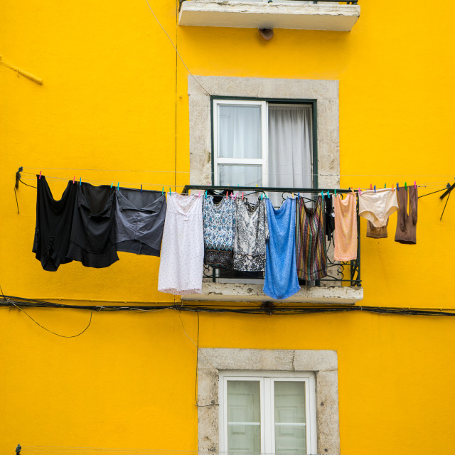 """Hanging out to dry"" stock image"