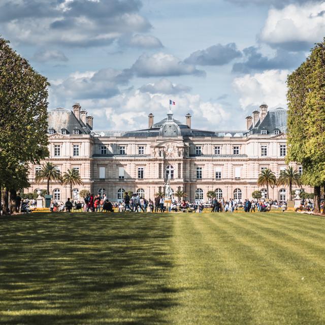"""Jardin Du Luxembourg Half Shadow"" stock image"