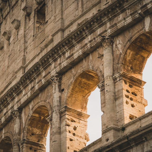 """""""Sunlight through the Arches of the Colosseum"""" stock image"""