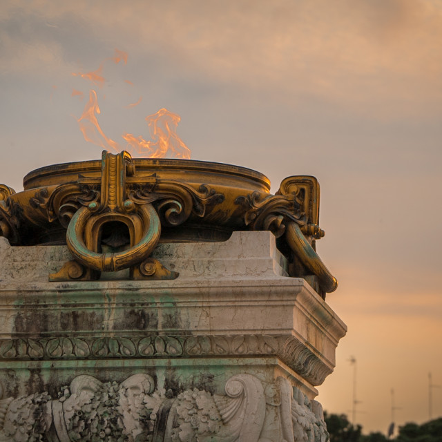 """""""Sunset of the Eternal flame in the Alter of the Fatherland"""" stock image"""