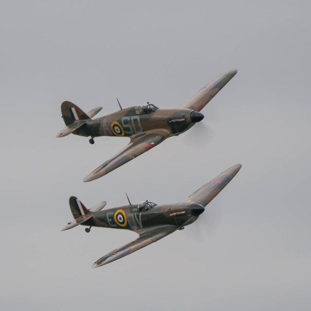 """BBMF Flypast"" stock image"