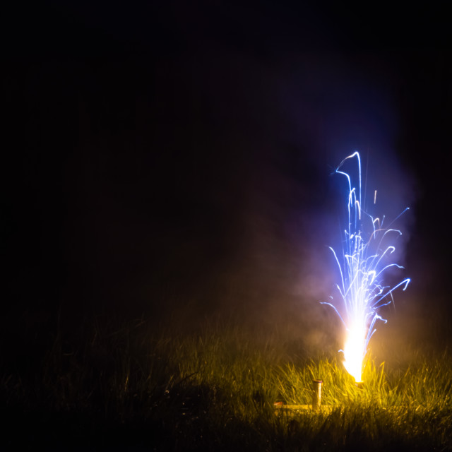 """Blue roman candle"" stock image"