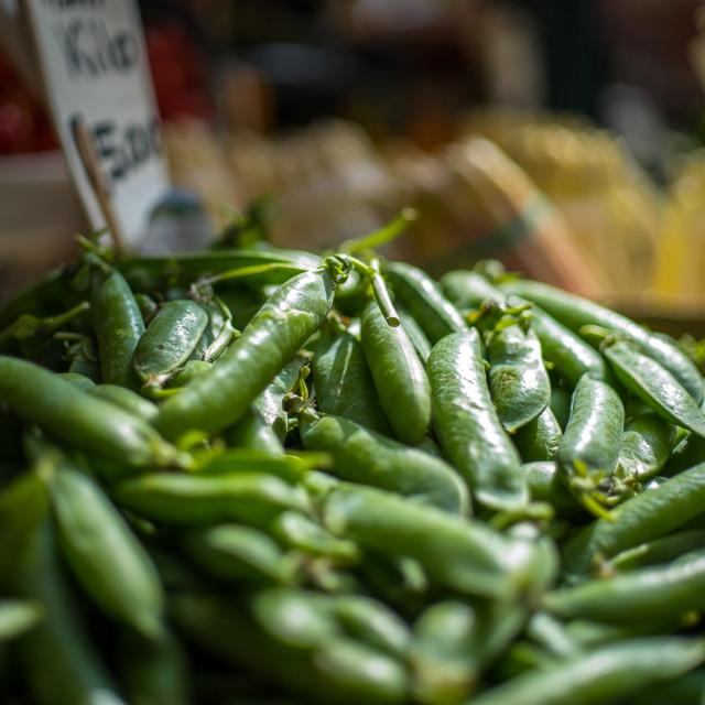 """Venetian Market snap peas for sale"" stock image"