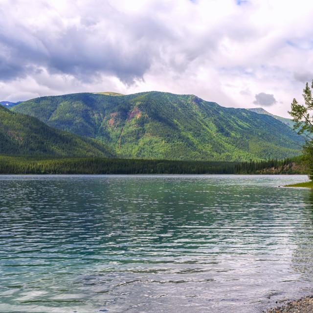 """Muncho Lake"" stock image"