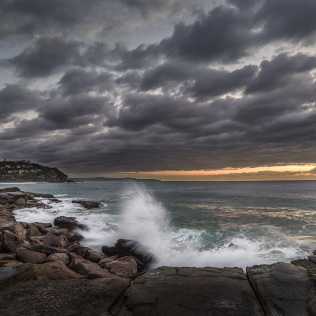 """Whale Beach Sunrise"" stock image"