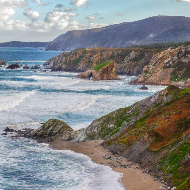 """Cantabrian coast craggy"" stock image"