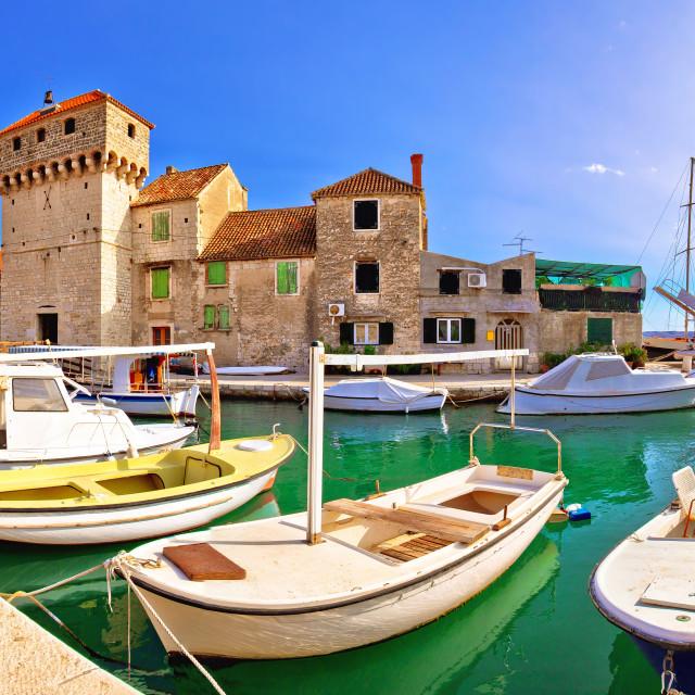 """Kastel Gomilica old island town on the sea near Split"" stock image"