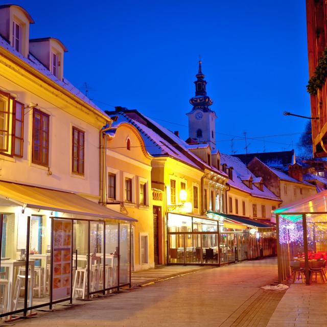 """Historic old Tkalciceva street of Zagreb evening view"" stock image"