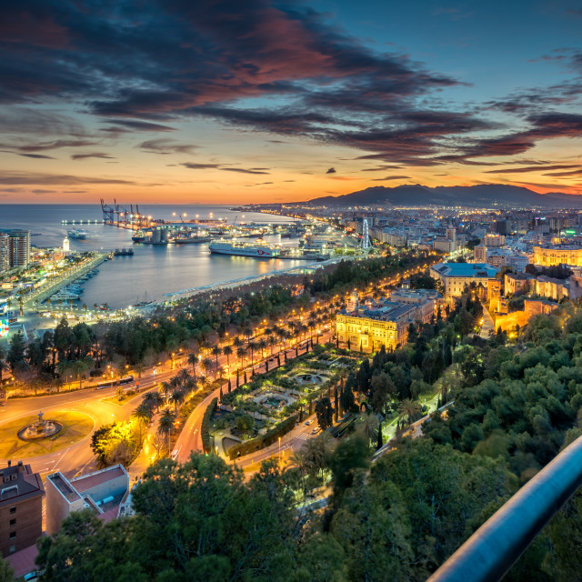 """Malaga city view from above"" stock image"