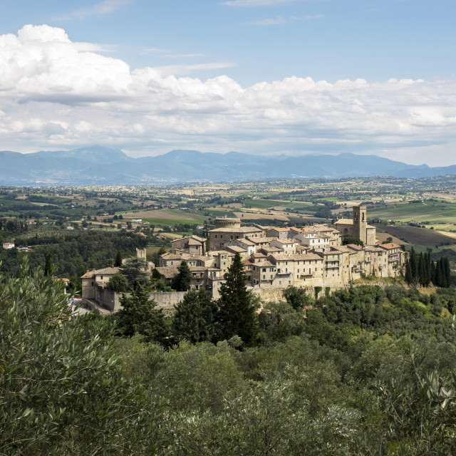 """""""Umbrian Hill Town"""" stock image"""