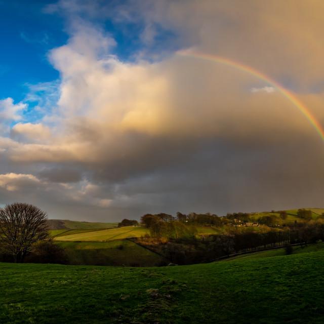"""""""Rainow Rainbow Vertical Panorama"""" stock image"""