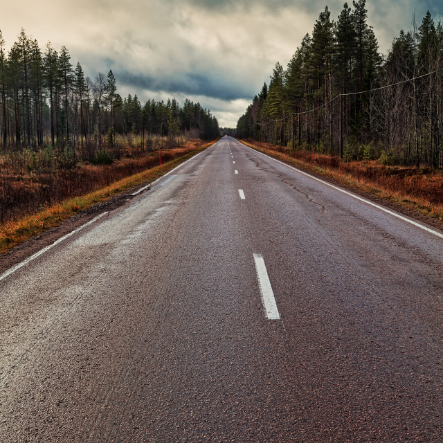 """Long Road To The Horizon"" stock image"