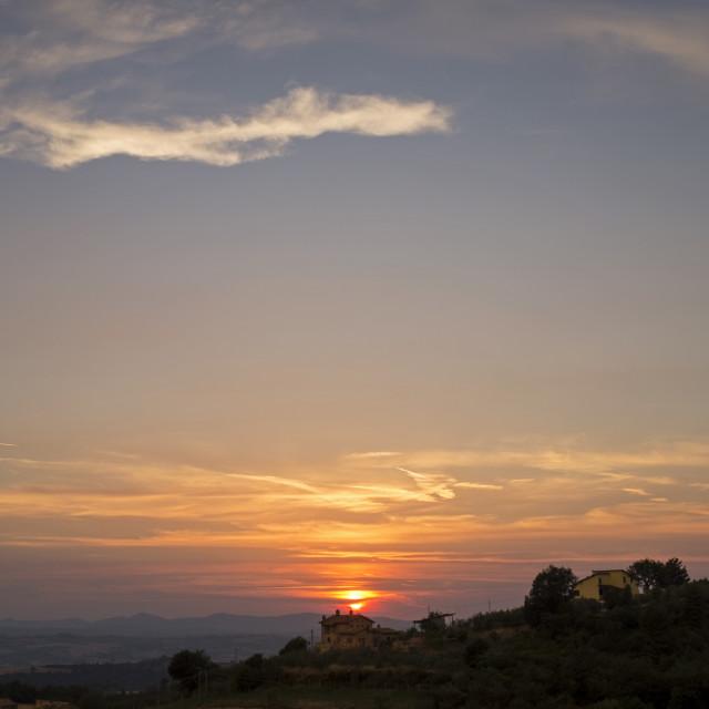 """Sunset over Umbria"" stock image"