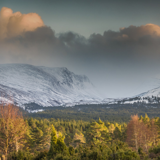 """""""The Lairig Ghru"""" stock image"""