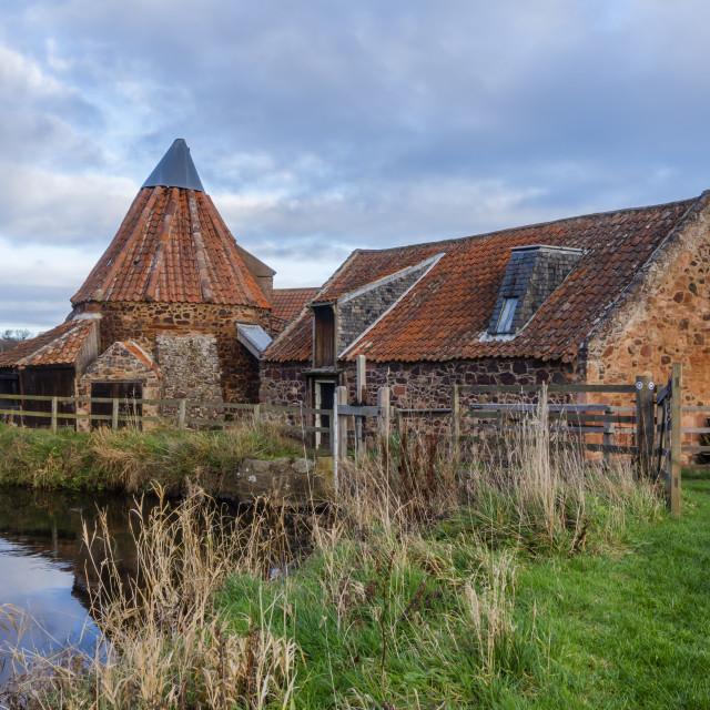 """""""Preston Mill, aka Lallybroch Mill"""" stock image"""