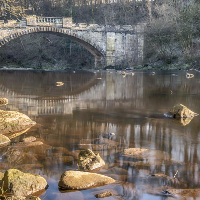 """The Nasmyth Bridge, Almondell"" stock image"