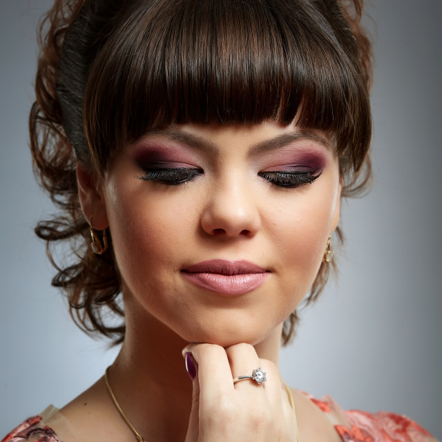 """Young girl with beautiful makeup"" stock image"