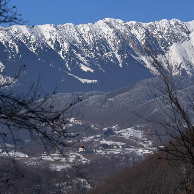 """Winter alpine landscape"" stock image"