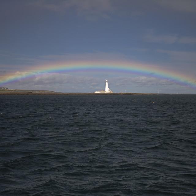 """Whitley Bay Rainbow"" stock image"