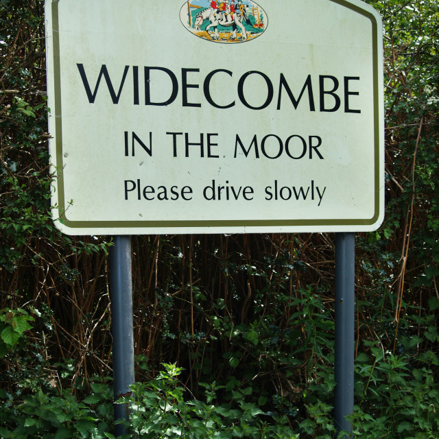 """""""Widecombe In The Moor"""" stock image"""