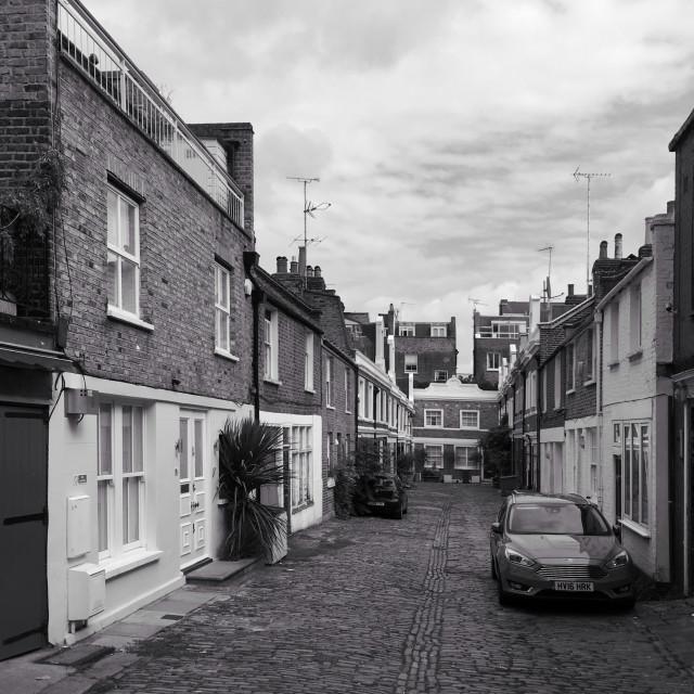 """""""Denbigh Close, off Portobello Road, London"""" stock image"""