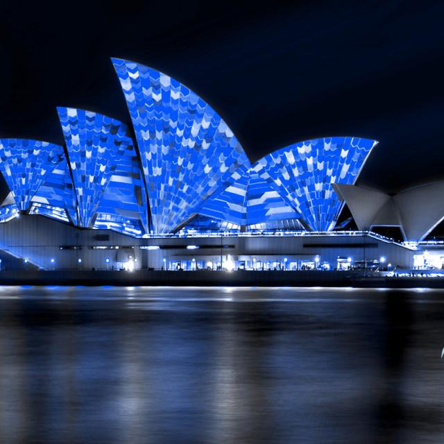 """Light Show on Sydney Opera House"" stock image"