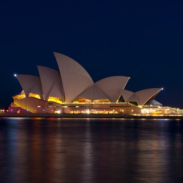 """Opera House at Night"" stock image"