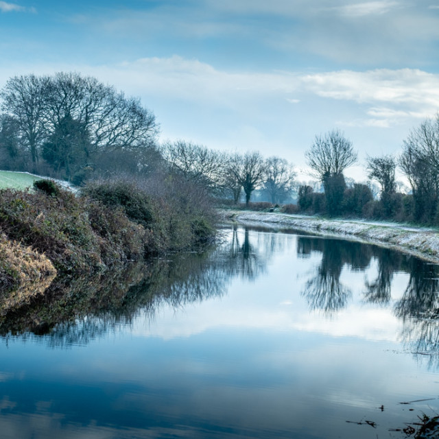 """Tiverton Canal."" stock image"