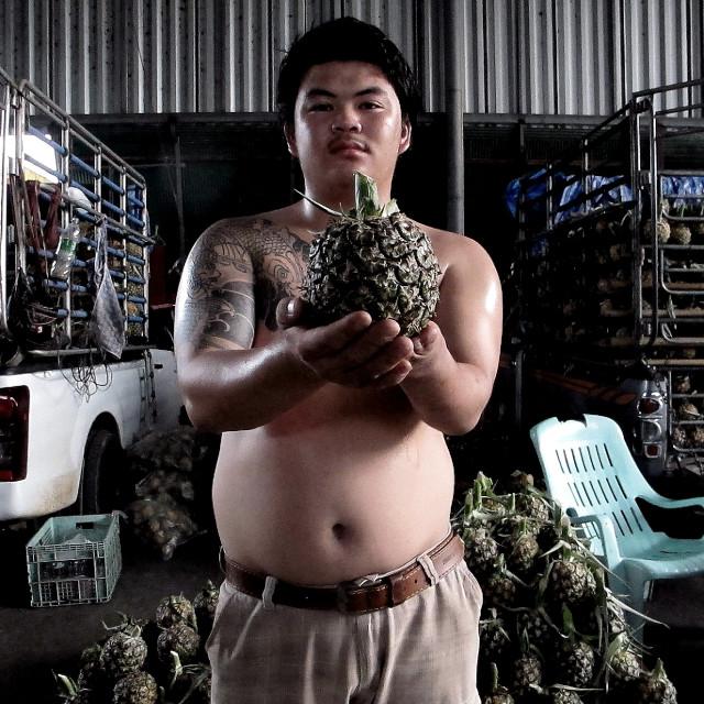 """The Pineapple Man"" stock image"