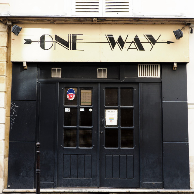 """One Way"" stock image"