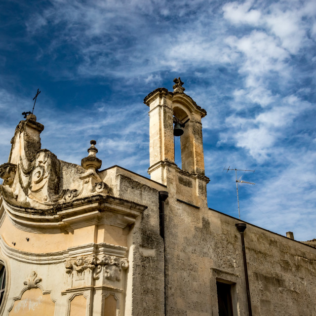 """""""Beautiful medieval church in Italy"""" stock image"""