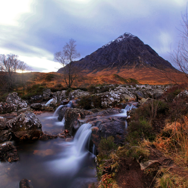 """Scottish mountain Buachaille Etive Mor"" stock image"