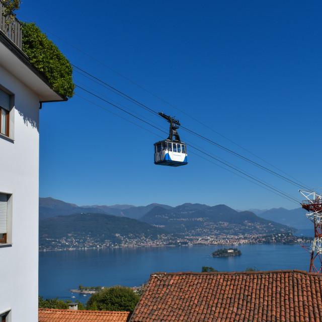 """Motaronne Cable Car in Stresa, Italy"" stock image"