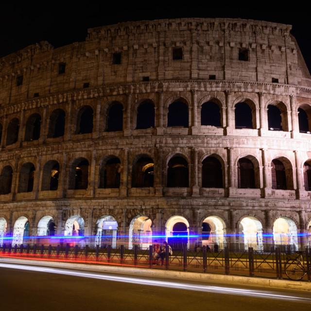 """Colosseum Nightscape"" stock image"