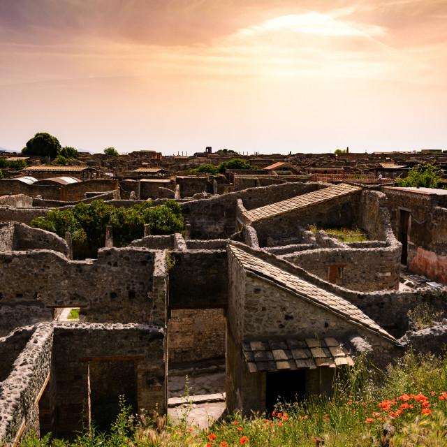 """Pompeii Sunset"" stock image"
