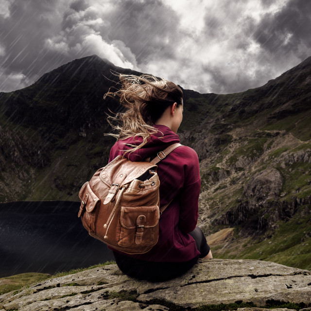 """""""The Moody Mountains"""" stock image"""