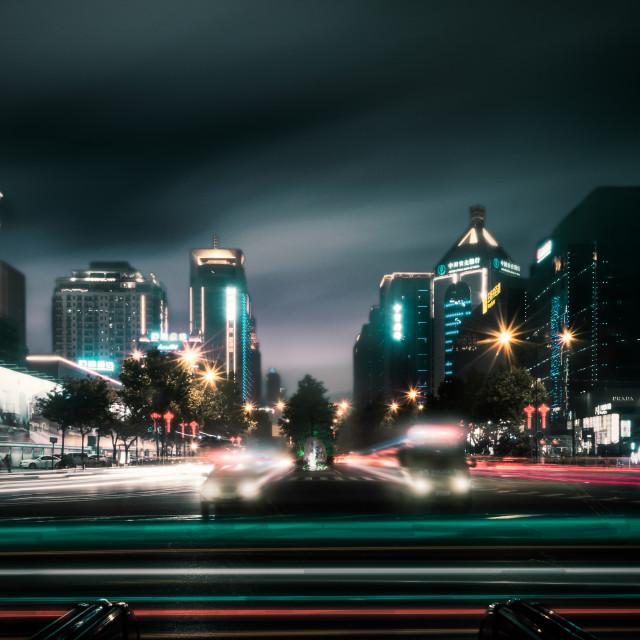 """Xian Nightscape"" stock image"