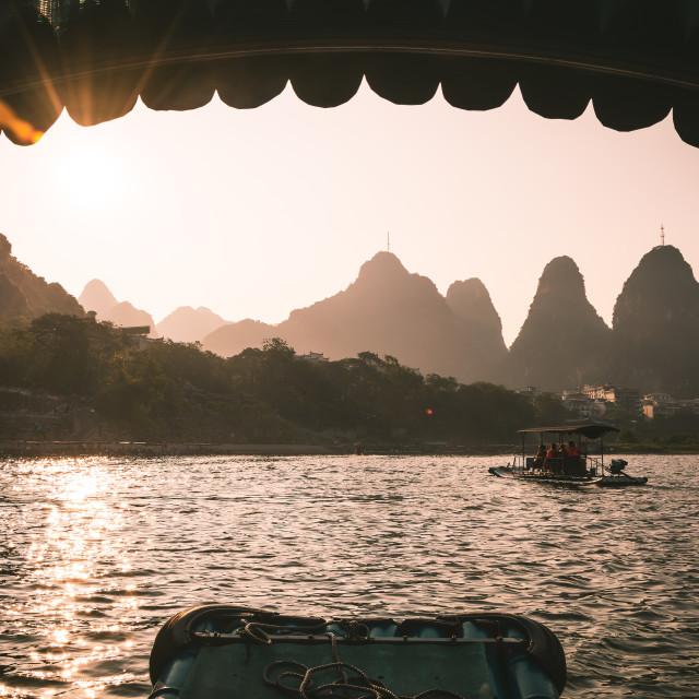 """Yangshuo Sunset"" stock image"