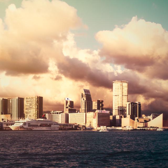 """Hong Kong Sunset"" stock image"