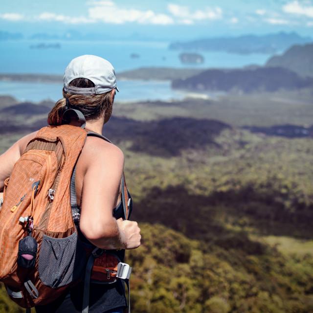 """Backpacking"" stock image"