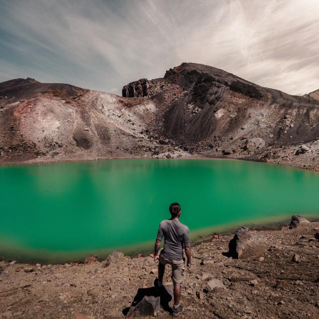 """The Emerald Lake"" stock image"